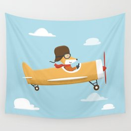 Mr. Fox is Flying Wall Tapestry