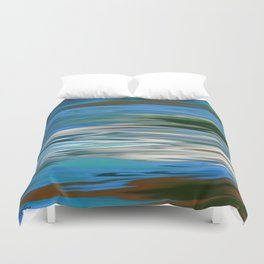 RIVERS AND BAYOUS OF HEMMIGBOUGH OIL PAINTING Duvet Cover
