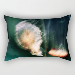 Jellyfish of the Blue-Green Electric Glow Rectangular Pillow
