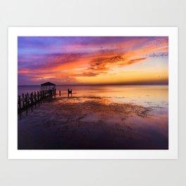 Sunset over Duck, NC Art Print