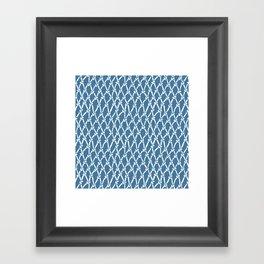 Fishing Net Blue Framed Art Print