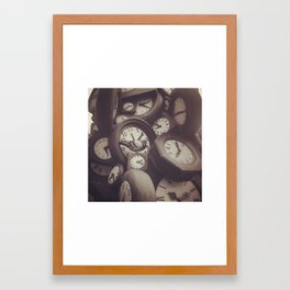 Clock Clok Clock Framed Art Print