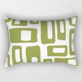 Retro Mid Century Modern Abstract Pattern 336 Olive Green Rectangular Pillow