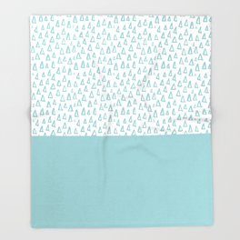 Triangles Mint Throw Blanket