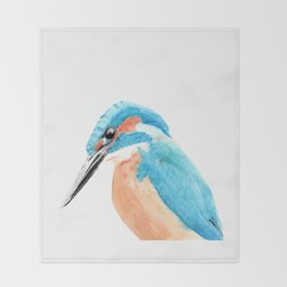Common Kingfisher Throw Blanket