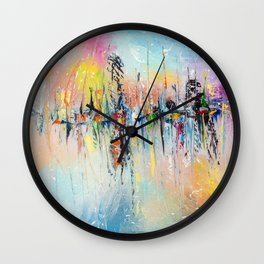 ON THE PIER Wall Clock