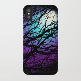 lights in the forest iPhone Case