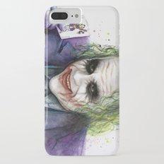 Joker Why So Serious Watercolor iPhone 7 Plus Slim Case