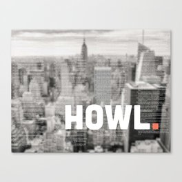 Howlin' with Ginsberg Canvas Print