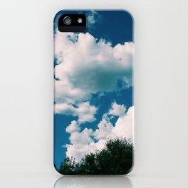 In the blue blue sky iPhone Case