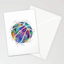 Basketball Watercolor Art Print Sports Poster Home Decor Kids Room Sports Painting Nursery Decor Stationery Cards