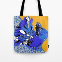 pigeon Tote Bags featuring Pigeon by Aimee St Hill