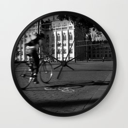 Bicycle and Budapest Wall Clock