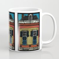 burgundy Mugs featuring 1129 Burgundy by Lynette K.
