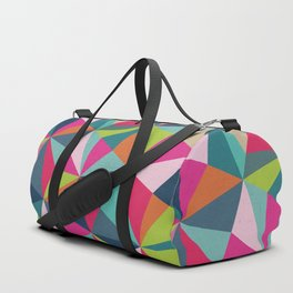 Geometric Triangle Pattern  - Spring Color Palette - Duffle Bag