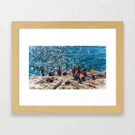 Pêche à la ligne, Cascais Framed Art Print