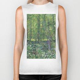 1887-Vincent van Gogh-Trees and undergrowth Biker Tank