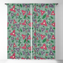 Magenta and Violet Bugambilia Blackout Curtain