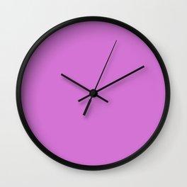 French Mauve #D473D4 Wall Clock
