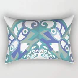 Thanksgiving Arch - Blue White Rectangular Pillow