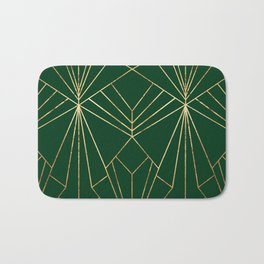 Art Deco in Gold & Green - Large Scale Bath Mat