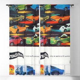 1969 Hot Wheels Italian Dealers Redline Store Poster Blackout Curtain
