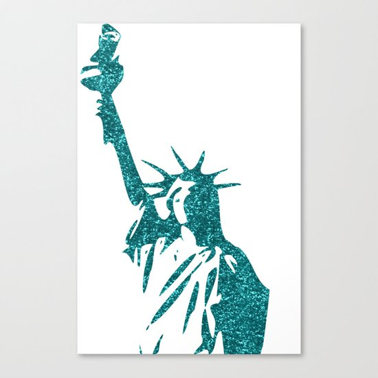 Statue of Glitter Canvas Print