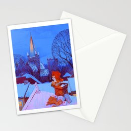 Christmas over Trondheim Stationery Cards