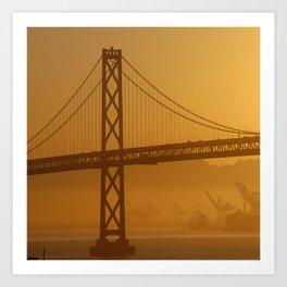 Stunning California Golden Sunrise Art Print