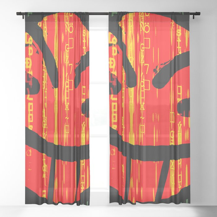 Cowboy Bebop Hacked Smile Sheer Curtain