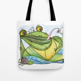 Frog with curls – Lockenfrosch Tote Bag
