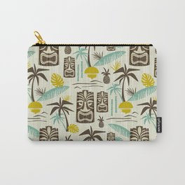 Island Tiki - Tan Carry-All Pouch