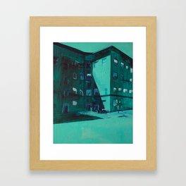 Hopper's Corner (Uptown, Minneapolis) Framed Art Print