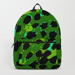 Cheetah Spots in Green and Blue Backpack