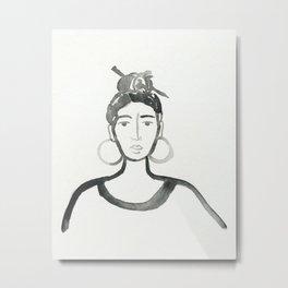 Hair Pin Metal Print
