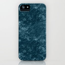 Peacock teal velvet iPhone Case