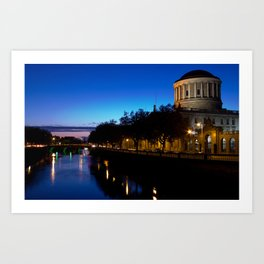 Four Courts Dublin Art Print