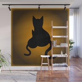 Black Cats & Pattern Wall Mural