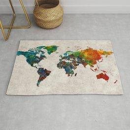 World Map 61 Rug