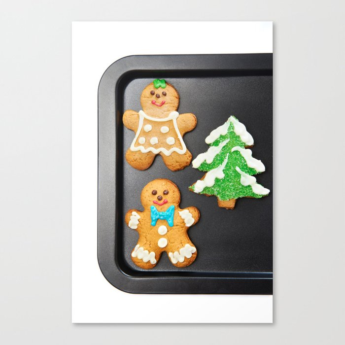 Gingerbread Cookies On Pan Canvas Print By Ryzhov