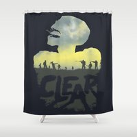 clear Shower Curtains featuring CLEAR by Kidney Theft