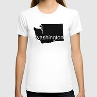 washington T-shirts featuring Washington by Isabel Moreno-Garcia
