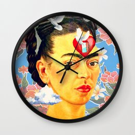 Frida  pigeon Wall Clock