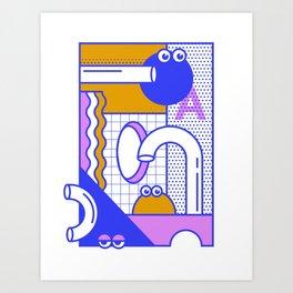 Google Eyed Maze Art Print