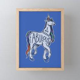 Fabulous Rainbow Unicorn Framed Mini Art Print