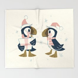 Puffins & Presents Throw Blanket