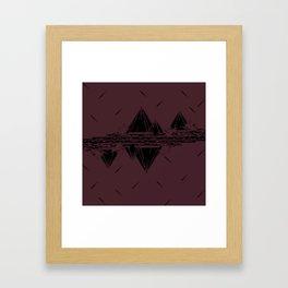 Maroon Mountains Framed Art Print