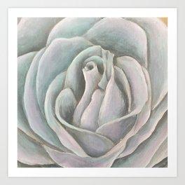 Grey Rose Art Print