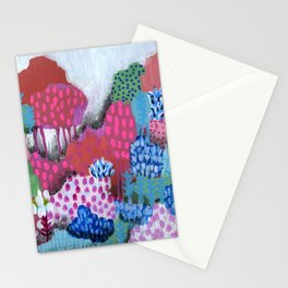 Abstract Forest Stationery Cards