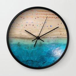 AERIAL. Summer beach Wall Clock